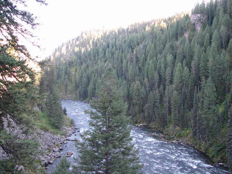 The Falls Flow Into the Snake River  - Upper Mesa Falls - Ashton, ID  9-4-05