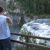 Ben Enjoying the Photo Opportunities  - Upper Mesa Falls - Ashton, ID  9-4-05