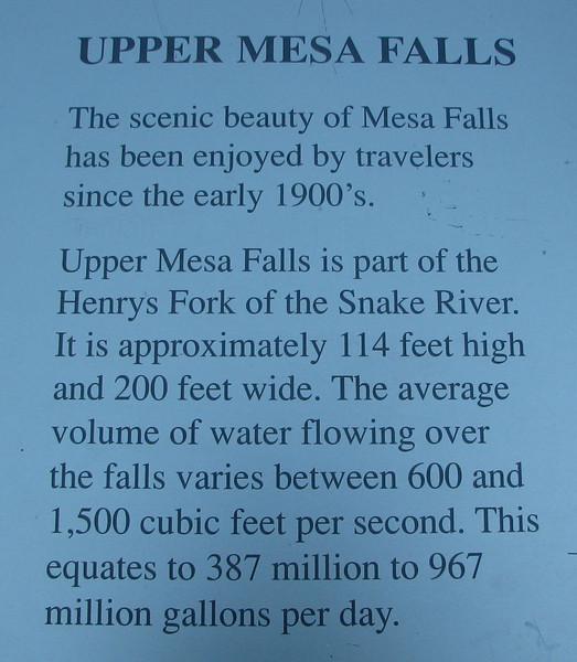 Upper Mesa Falls  - Upper Mesa Falls - Ashton, ID  9-4-05