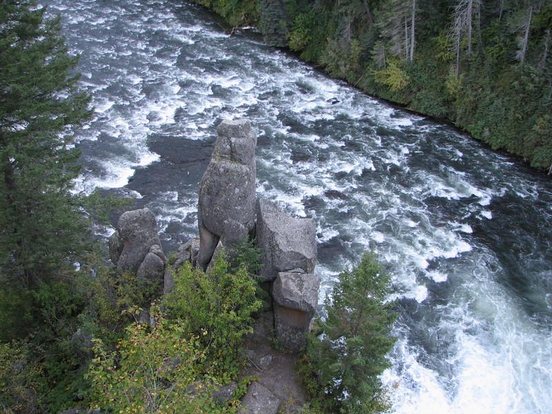 Unique Rock Formations  - Upper Mesa Falls - Ashton, ID  9-4-05