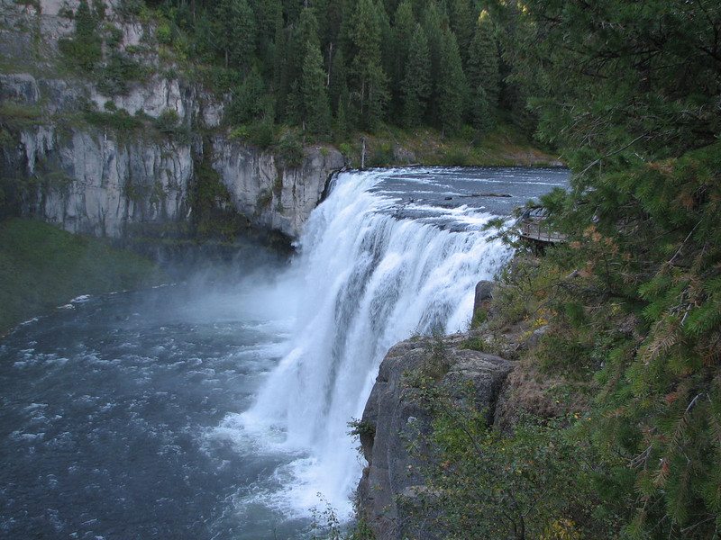 114 Feet Drop into the Snake River  - Upper Mesa Falls - Ashton, ID  9-4-05