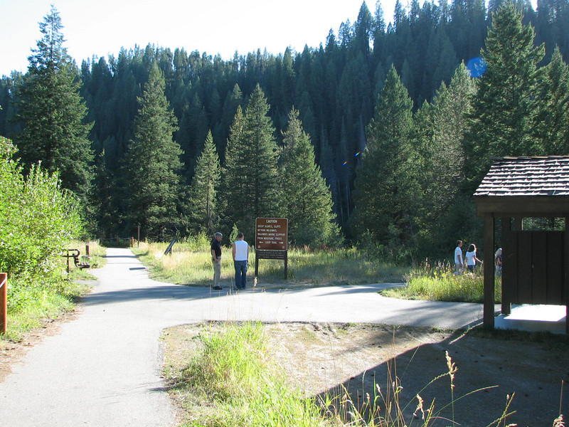 Headed for the Falls  - Upper Mesa Falls - Ashton, ID  9-4-05