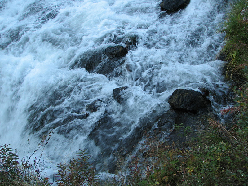 The Roar of the Water Before It Falls Down Into the River  - Upper Mesa Falls - Ashton, ID  9-4-05