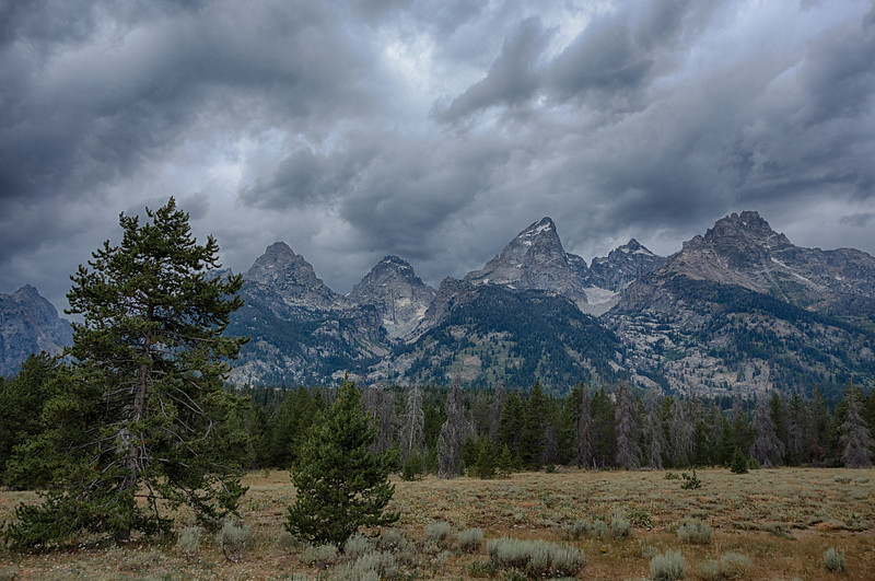Grand Tetons from the Wyoming side