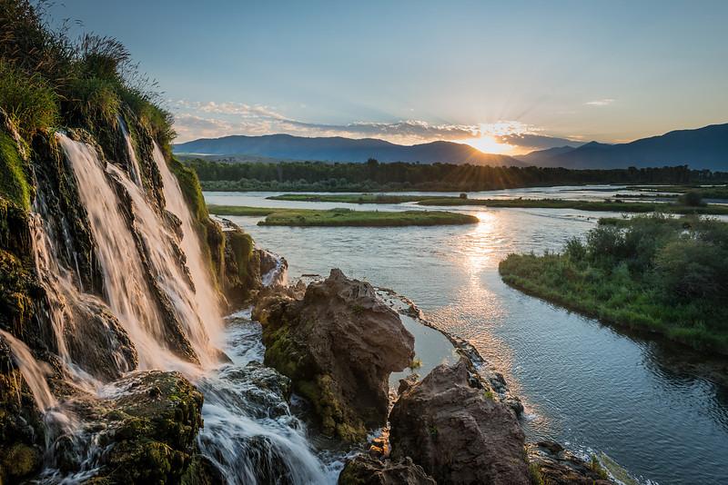 Fall Creek falls at sunrise