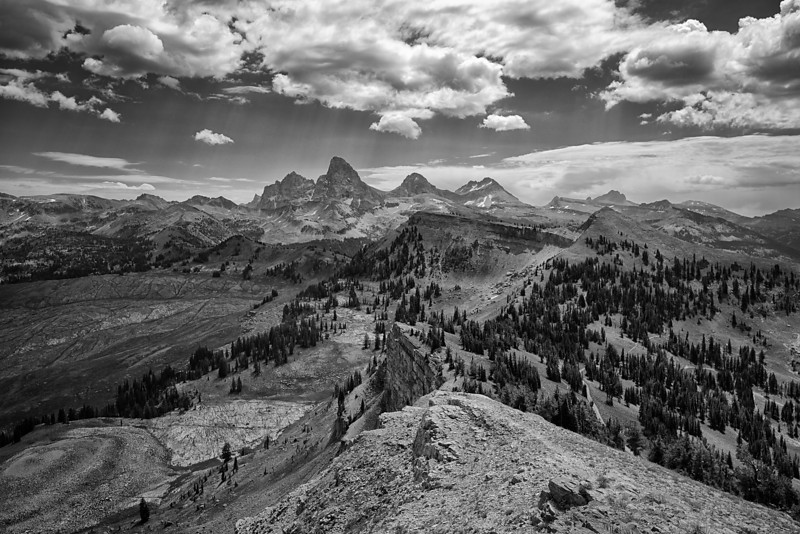 Grand Tetons from Targhee National Forest