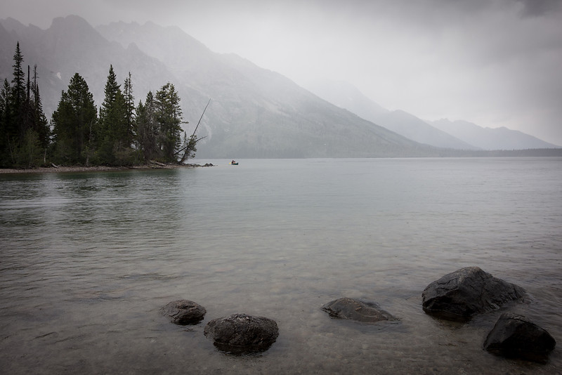 Fog over Jenny Lake