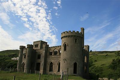Kasteelruine van John D'Arcy. Clifden, Ierland.