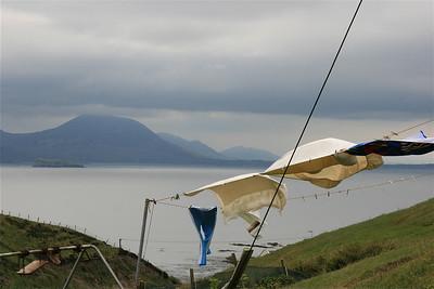 De was hangt buiten. Inishowen Peninsula, Ierland.
