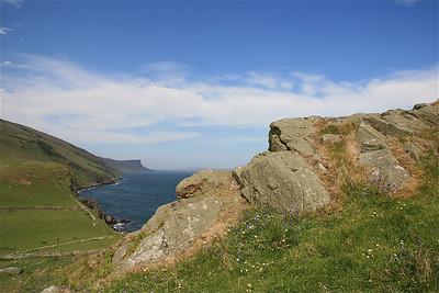 Cliffs van Murlough Bay, Noord-Ierland.
