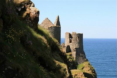 Dunluce Castle. Causeway Coast, Noord-Ierland.
