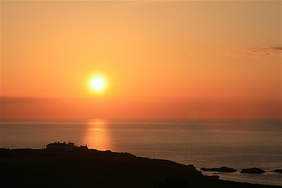 Zonsondergang in Ballintoy, Noord-Ierland