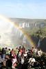 Rainbow. over the falls.  We conjectured it is permanent, provided it is sunny out.