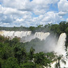 The Iguazu river marks the border between Brasil and Argentina. Both National parks (on either side) are UNESCO World Heritage Sites