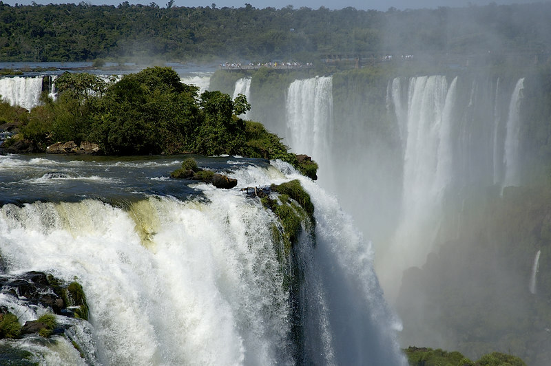 The Iguazu Falls at the main Brazilian site