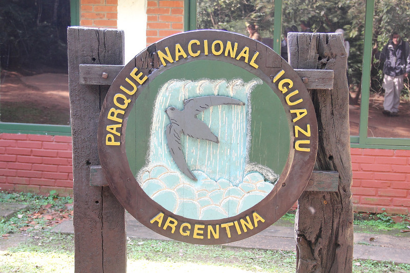 Entering Iguazu National Park in Argentina.