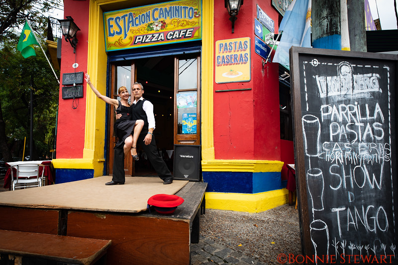 Performers Dancing the Tango in the streets of La Boca