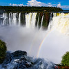"Falls originating from ""Devil's Throat"" which is on the far right.  Photo is from the Upper Falls on the Argentinian side"