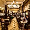 Cafe Tortoni is a beautiful French style cafe opened in 1858 in the center of Buenos Aires.