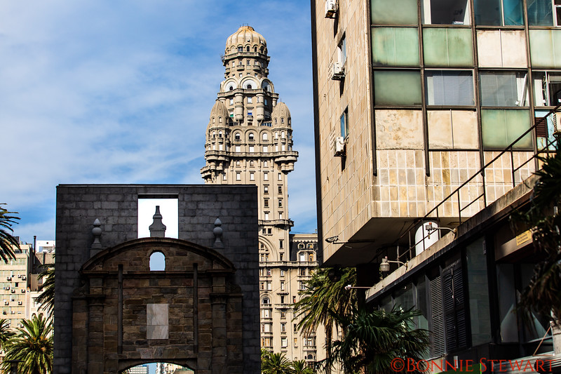 Diverse architectural styles in the city of Montevideo ranging from Art Deco to Colonial