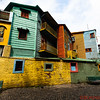 La Boca neighborhood or Barrio in Buenos Aires know for colorful buildings and TANGO - the national dance of Argentina