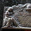 A Mausoleum in Recoleta cemetery for the Duarte family.   Eva Peron Duarte is interned here. There are a total of 4,800 mausoleums of every shape and design