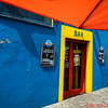 La Boca neighborhood or Barrio in Buenos Aires known for colorful buildings and TANGO - the national dance of Argentina