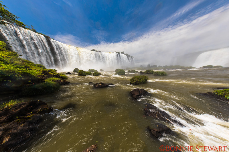 Iguazu Falls from the Brazil side next to the Devil's Throat