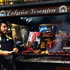 Lunch in the Mercado del Puerto at a traditional grilled meat restaurant called Cabana Veronica