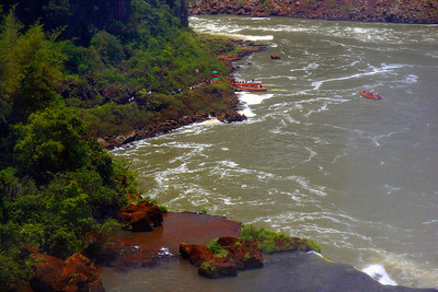 """Iguazu Falls"" going to boat for closer look at falls"