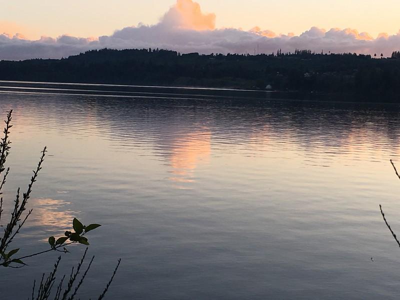Sunset on Mayfield Lake
