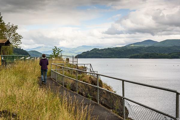 Mossyrock Dam viewpoint