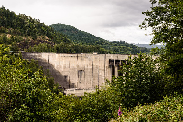 Mossyrock Dam from downstream