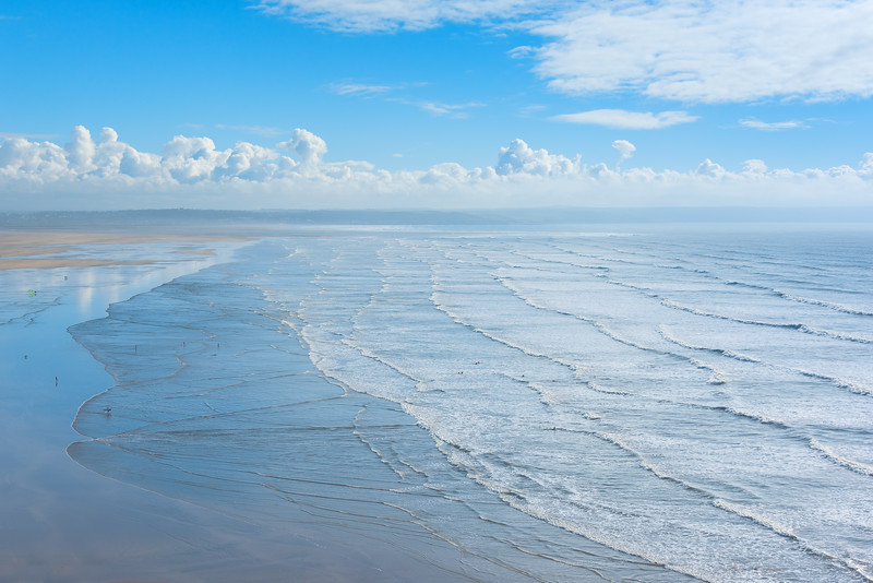 North Devon is a coastal area of southwest England, known for its dramatic cliffs, wild seas and sandy beaches at Woolacombe, Saunton Sands and Croyde Bay.