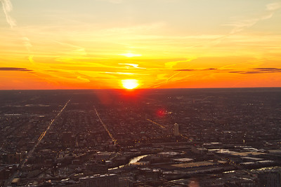 Chicago Sunset from up High