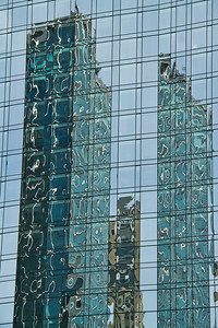 Reflections in a modern Building