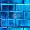 Blue Glass Bricks Background
