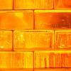 Orange Glass Bricks Background