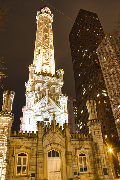 Chicago Water Tower at Night