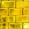 Yellow Glass Bricks Background