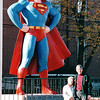 Jean and Randal with Superman - Metropolis, IL  11-27-98