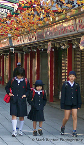 On the Way to School in Tokyo