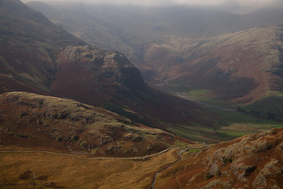 Great Langdale Surrounded by the Langdale ranges ,Lake District, England