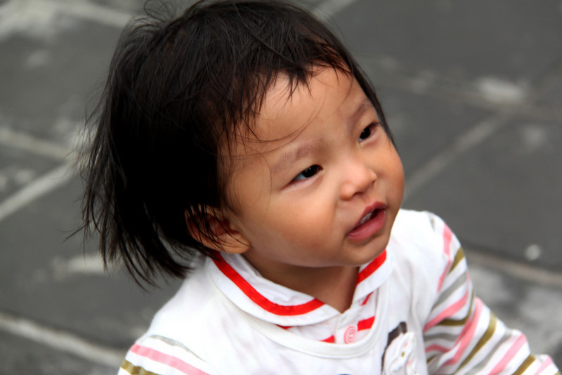 A Girl at Great Wall
