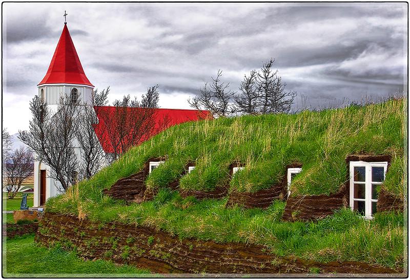 Church and Sod Barn