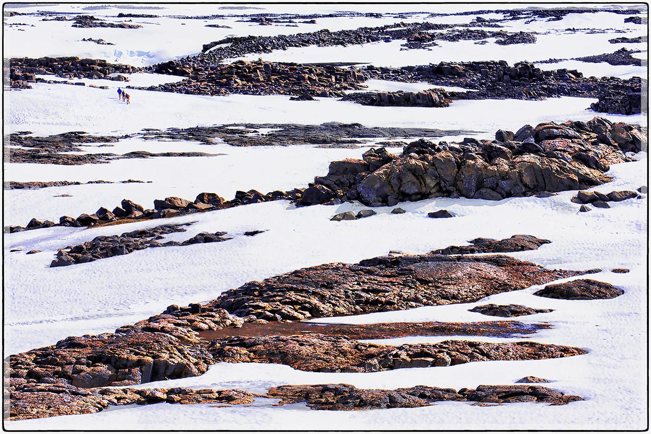 Ridges Through The Snow
