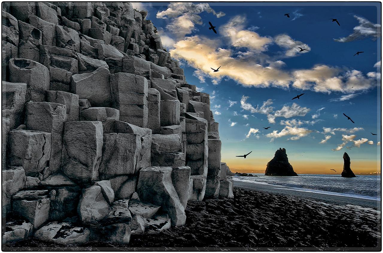 Basalt Rockscape At Reynisfjara