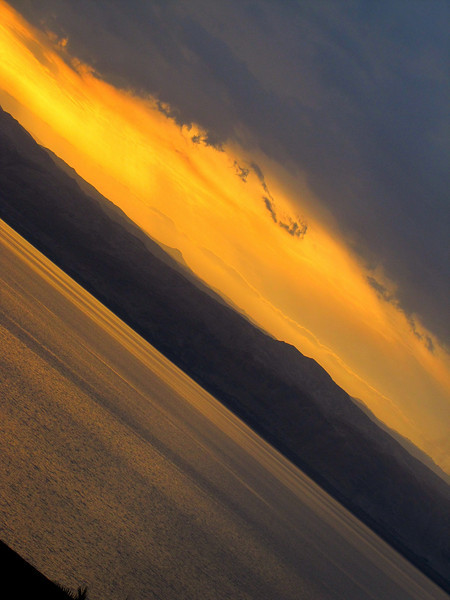 A Side Slice of the Dead Sea Sunset