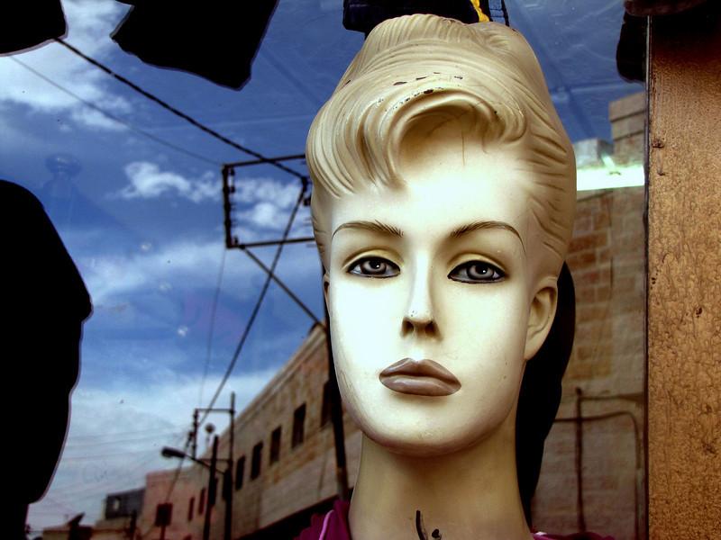 A mannequin seen in a small Jordanian village.