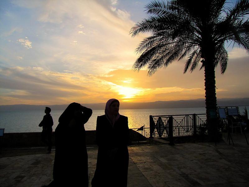 Women at Dead Seas Sunset